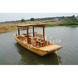 四川宁夏海南山西5米木船厂家出售优质公园手划观光游船