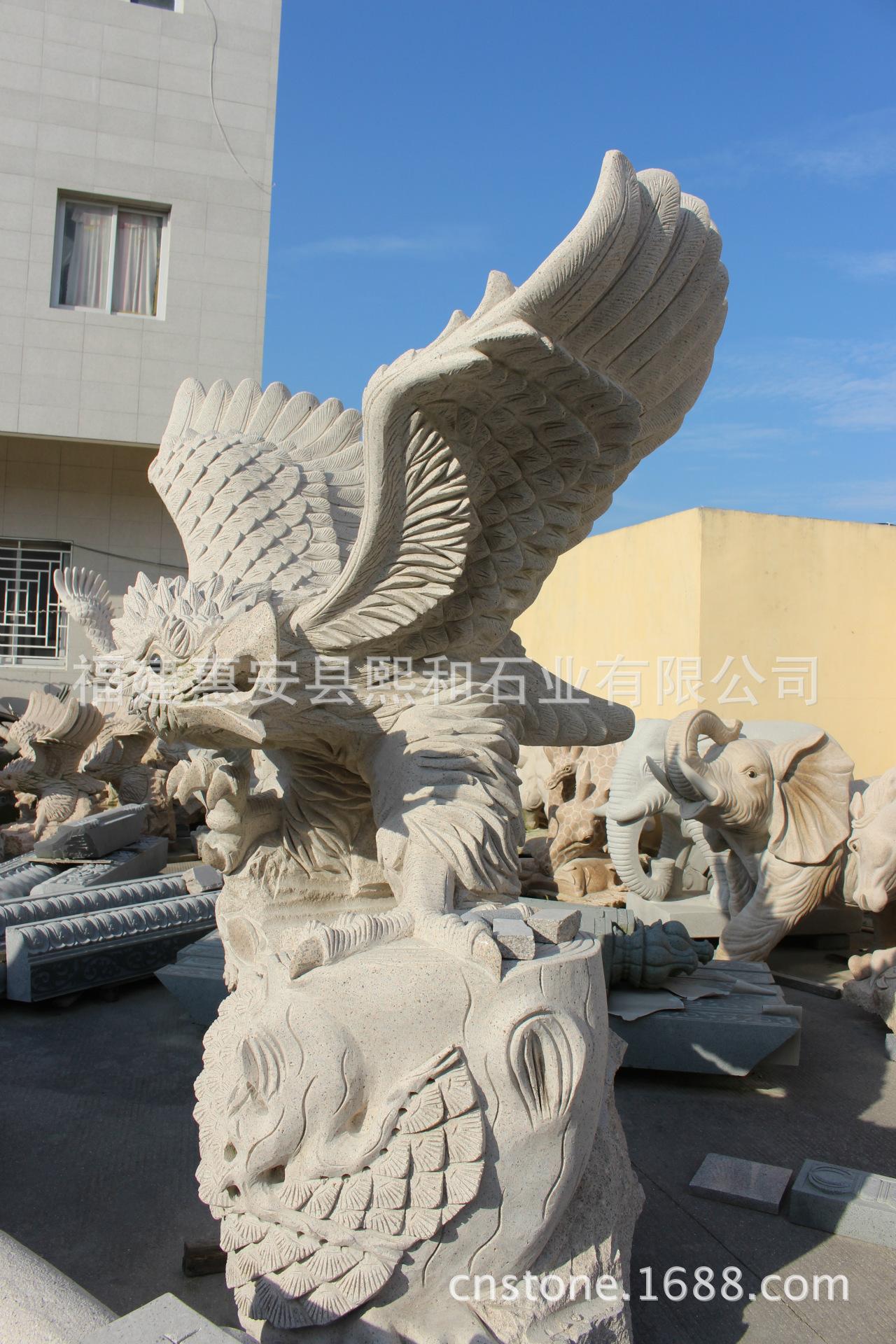 出口石雕动物摆件 动物雕塑雕刻品 福建石雕厂家直销