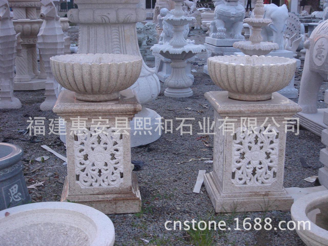 欧式石材花钵石头花盆盆景盆