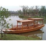 山东电动木船观光船景区游玩木船