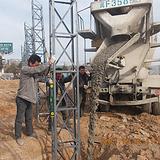 京津冀地区六米角钢格构架工地围挡制作安装