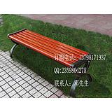 园林铸铁长条椅、景观公园椅、实木休闲座椅