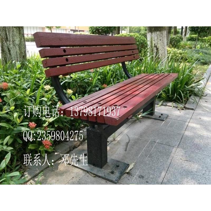 园林铸铁长条椅,景观公园椅,实木休闲座椅