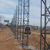 京津冀地区6米角钢格构架围挡施工围挡制作