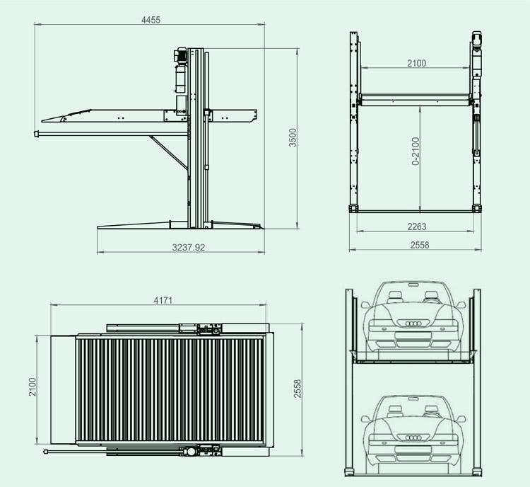 停车场设备价格_液压子母机复式车位子母车库