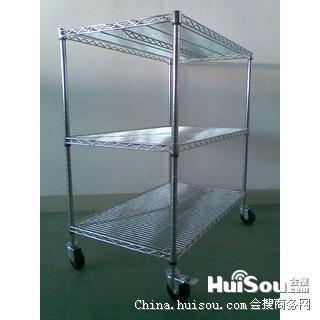 公明不锈钢置物架,不锈钢线网货架图片