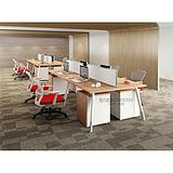 西安办公桌|西安职员桌|雅凡家具四人钢木组合办公桌