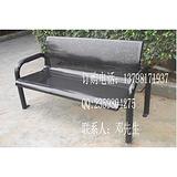 户外铸铁长椅,广场铁艺座椅,园林实木座椅
