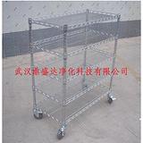一级正品防静电镀铬线网货架手推车品质好得很厂家-湖北武汉造