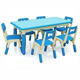 厂家直销幼儿园桌子 儿童课桌椅哈佛欧式六人桌批发