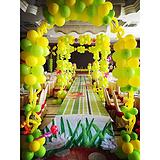 上海宝宝生日宴会酒店气球布置公司庆典商城装饰