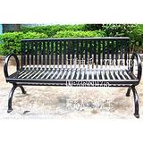 阳台铁制公园椅 户外铁质休闲椅 室外实木长椅