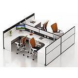 西安辦公屏風隔斷廠家定制批發辦公區員工屏風辦公桌