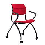 西安培训椅 雅凡办公家具厂家定制批发精品会议室写字板培训椅