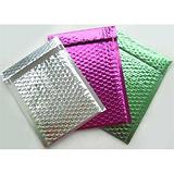 彩色镀铝膜气泡袋服装包装气珠袋