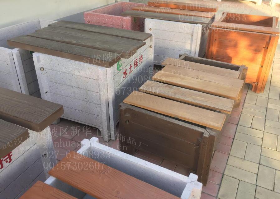 混凝土仿木纹铺板 仿木地板模具