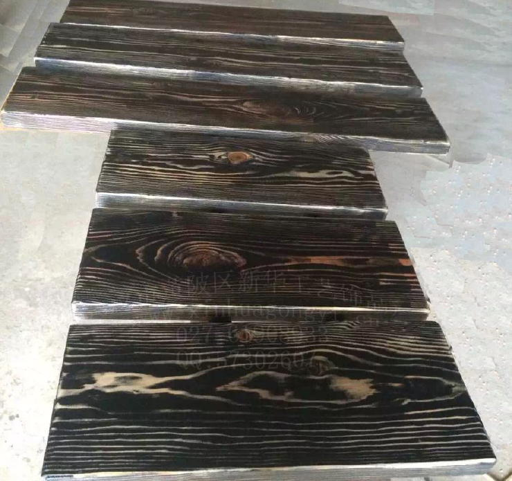 混凝土仿木纹铺板