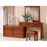 缅甸柚木家具 全柚木实木梳妆台/桌子 梳妆凳化妆桌 现代简约