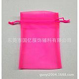 供应特价精美饰品、丝印logo纱袋、印刷丶烫金logo绒布袋