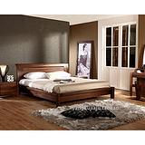 现代中式 全实木双人床黑胡桃木床婚床 上海黑胡桃木家具定制