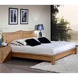 现代榆木家具全实木双人床1.8米 原木色 上海榆木家具价格价