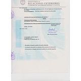 阿根廷领事馆盖章发票