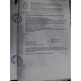 阿根廷领事馆双认证货物报关单