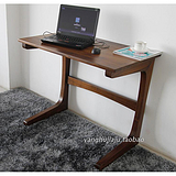 全实木电脑桌黑胡桃木书桌现代简约阳台个性创意写字台 上海柚木家具