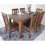 黑胡桃木餐桌椅组合长方形餐桌1.6米现代简约 黑胡桃木家具品牌