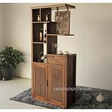 黑胡桃木酒柜多功能全实木隔断玄关柜装饰柜 上海黑胡桃木家具厂家