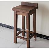 上海北美黑胡桃木家具餐厅吧台凳子可旋转 全实木高脚凳吧台椅