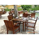 园林实木桌椅、酒店木质套椅、阳台休闲桌椅