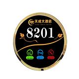 深圳工厂定做酒店智能LED显示电子门牌玻璃面板不锈钢面板