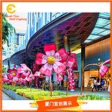 商场广场景观装饰铁艺大花道具