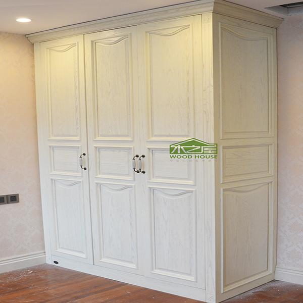 衣柜价格_木之屋全屋定制现代简约整体衣柜红橡木3门