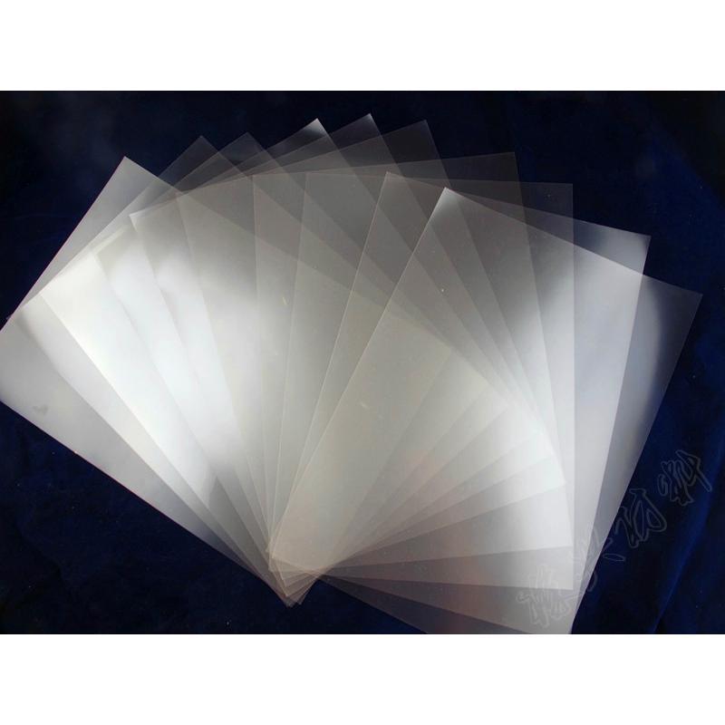 磨砂制版胶片,透明磨砂胶片,磨砂菲林,磨砂透明胶片 产品基材: PET 产品光泽: 微粒磨砂透明 使用墨水: 水性dye和pigment墨水(水性颜料或者染料) 产品厚度: 0.10mm 产品克重: 180g/ 产品规格: 0.31/0.61/0.914/1.27/1.52m*30m A3,A4 使用机型: Mimaki、Roland、Mutoh、Epson、HP、Novajet、Kodak、Canon 产品特性: 1、全透明 2、PET 3、户内使用 4、不防水不防紫外线 使用范围: 采用进口化工原料,