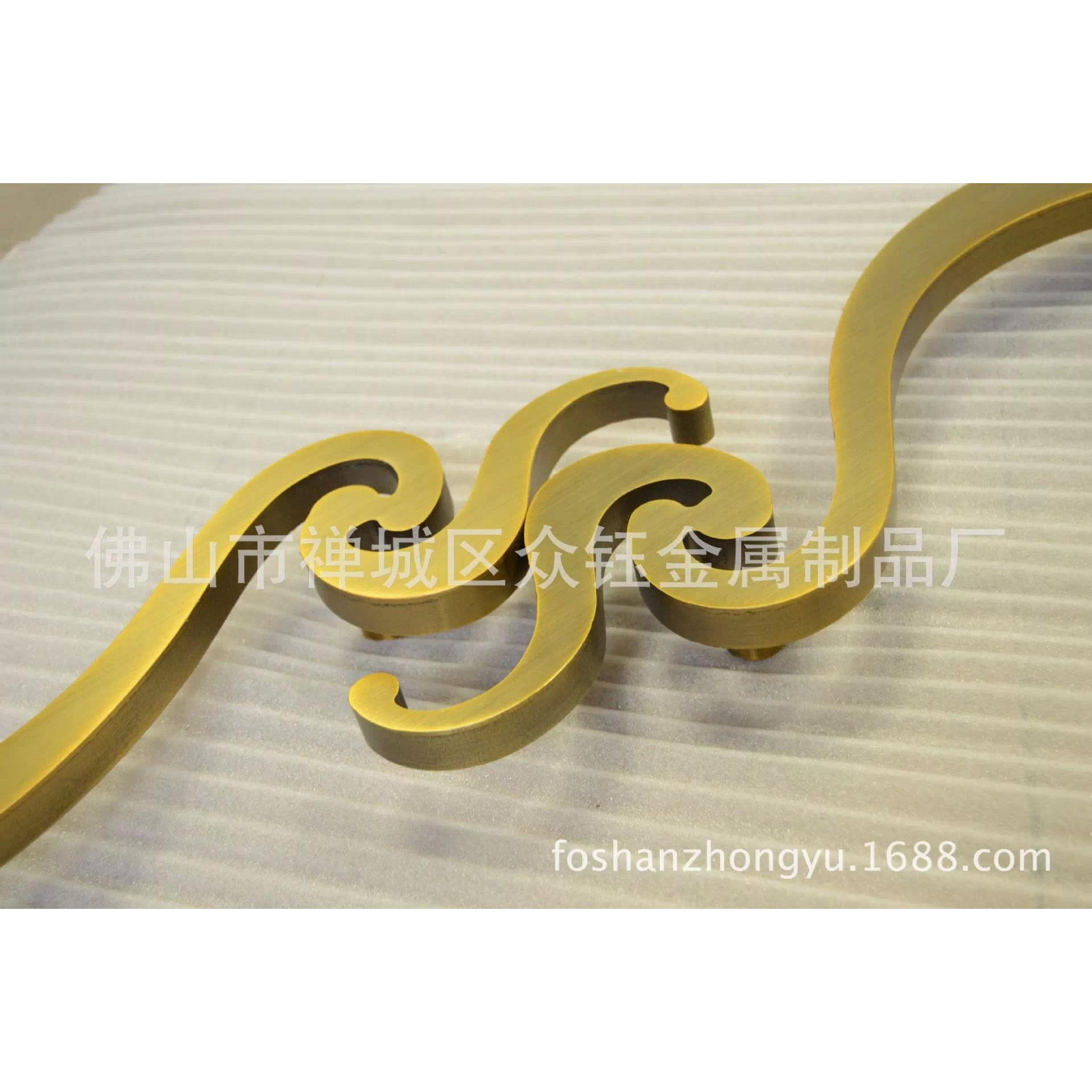 古铜木门半圆形雕刻拉手批发价格