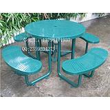 铁制休闲桌椅组合 户外铁质桌椅 庭院连体桌椅