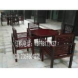 户外木制桌椅组合 广场实木桌椅 园林家具桌椅