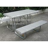 室外家具 铁制休闲桌椅 花园家具桌椅 连体桌椅