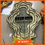 商场美陈DP陈列用玻璃钢仿铜地台