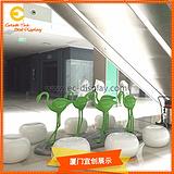 商场中庭DP装饰道具玻璃钢火烈鸟雕塑道具
