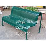 广场铁质长椅冲孔板休闲路椅双人排椅