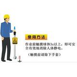 易燃易爆场合专用人体静电报警导除仪器/人体静电报警器