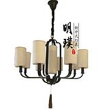 江苏茶室新中式吊灯 简约新中式全铜吊灯 样板房新中式吊灯效果图