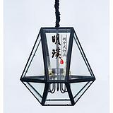 四川餐厅中式铁艺吊灯 大厅中式创意玻璃吊灯 新中式铁艺吊灯定制