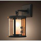 明璞玄关走廊中式壁灯 明璞现代中式简约玻璃铁艺壁灯厂家批发定制