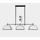 南京餐厅新中式吊灯 客厅现代新中式三头铁艺吊灯 吧台创意中式吊灯
