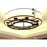 明璞酒店大堂新中式吸顶灯 现代别墅宴会厅新中式布艺吸顶灯厂家批发
