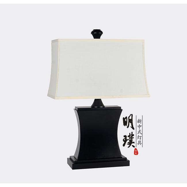 明璞新中式简约铁艺台灯 现代中式布艺台灯批发厂家